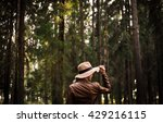 photo set in deep forest | Shutterstock . vector #429216115