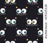 cat face. vector seamless... | Shutterstock .eps vector #429225118