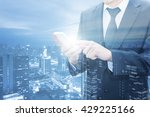 double exposure of businessman... | Shutterstock . vector #429225166