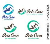 pets care logo | Shutterstock .eps vector #429225826