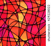 abstract vector stained glass... | Shutterstock .eps vector #429228022