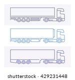 vehicle pictograms  european... | Shutterstock .eps vector #429231448