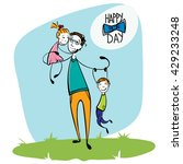 hand drawn card for father's... | Shutterstock .eps vector #429233248