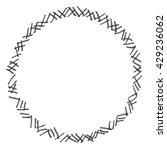 frame circle flowers | Shutterstock . vector #429236062
