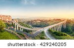 Panoramic view over Catanzaro with  Ponte Bisantis, Calabria, Italy