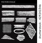 vector chalk tone value. hand... | Shutterstock .eps vector #429241546