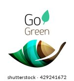 go green. leaf nature concept.... | Shutterstock .eps vector #429241672