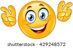 emoticon making air quoting... | Shutterstock .eps vector #429248572
