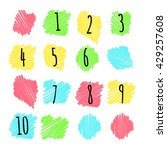bright marker highlighting.... | Shutterstock .eps vector #429257608
