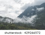 mountains under mist in the... | Shutterstock . vector #429266572