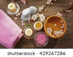spa composition with blooming... | Shutterstock . vector #429267286