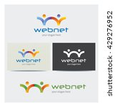 letter w network icon  logo for ... | Shutterstock .eps vector #429276952