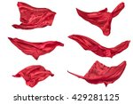 abstract flying fabric elements ...   Shutterstock . vector #429281125
