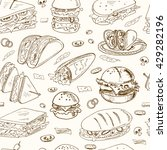 vector sandwiches seamless... | Shutterstock .eps vector #429282196