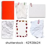 collection of pape notes - stock photo