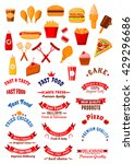 fast food design elements with... | Shutterstock .eps vector #429296686
