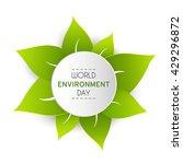 world environment day sticker ...   Shutterstock .eps vector #429296872
