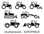 tractors icons set | Shutterstock .eps vector #429299815