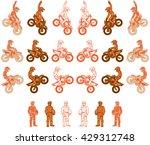 an orange color variations set...