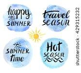 summer calligraphic design...   Shutterstock .eps vector #429315232