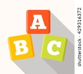 abc blocks flat icon with long... | Shutterstock .eps vector #429316372