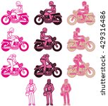 a pink color variations set at...