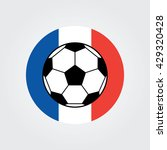 euro 2016 france football... | Shutterstock .eps vector #429320428