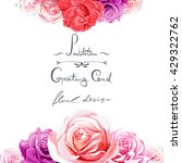 Greeting Card With Roses. Can...