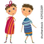 boy and girl   Shutterstock . vector #42933289