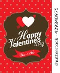 happy valentine day card vector ... | Shutterstock .eps vector #429340975