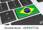 brazil digitalization and use... | Shutterstock . vector #429347716
