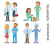 medical team. set of hospital... | Shutterstock . vector #429349756