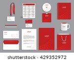 business stationery set... | Shutterstock .eps vector #429352972