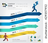 milestone and timeline for... | Shutterstock .eps vector #429357952