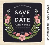 save the date  wedding... | Shutterstock .eps vector #429359326