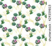 seamless watercolor pattern... | Shutterstock . vector #429359815