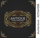 vintage art deco frame for... | Shutterstock .eps vector #429364588