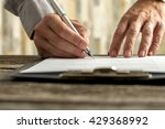 front view of male hands... | Shutterstock . vector #429368992