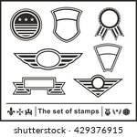 the set of stamps | Shutterstock .eps vector #429376915