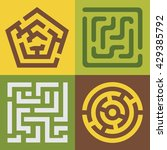 set of colorful vector mazes.... | Shutterstock .eps vector #429385792
