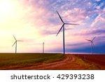 windmills on the windfarm... | Shutterstock . vector #429393238