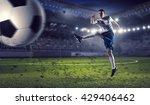 soccer forward player  | Shutterstock . vector #429406462