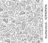 cartoon hand drawn ice cream... | Shutterstock .eps vector #429409696