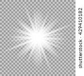vector glowing light effect on... | Shutterstock .eps vector #429410182
