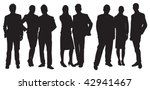 silhouette of people | Shutterstock .eps vector #42941467