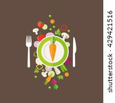 vegetables background   can... | Shutterstock .eps vector #429421516