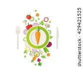 vegetables background   can... | Shutterstock .eps vector #429421525