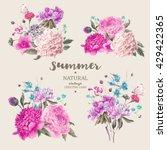 set of vintage floral vector...   Shutterstock .eps vector #429422365