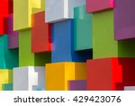 background of bright geometric... | Shutterstock . vector #429423076