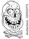 Smiling Skull And Crossbones  ...